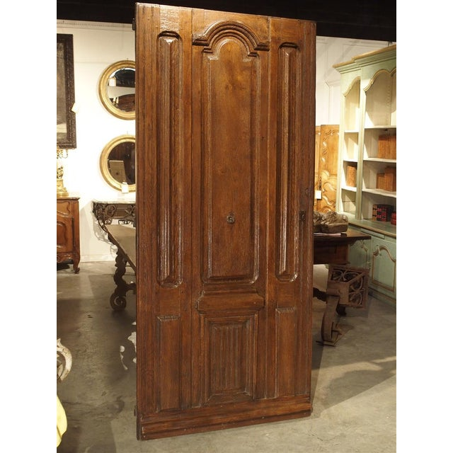 Early 1900s French Louis XIV Style Oak Entry Door For Sale - Image 11 of 11