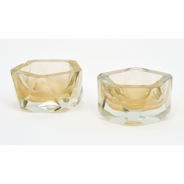 Murano Glass Hand-Blown Avventurina Bowls - a Pair For Sale - Image 9 of 10