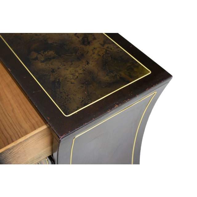 Chest Dresser in Acid-Etched Brass by Bernhard Rohne for Mastercraft For Sale - Image 9 of 13