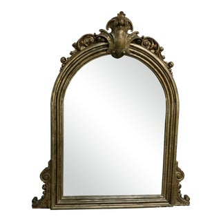 Antique Carved Wood Viking Trim Mirror For Sale
