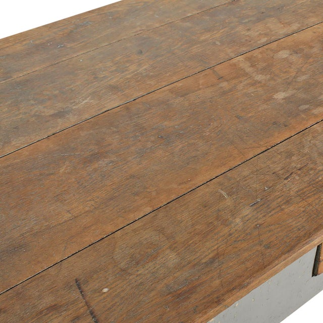 Wood Early 20th Century American Farm Table For Sale - Image 7 of 11