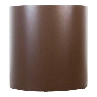 Vintage Brown Melamine Drum Table For Sale