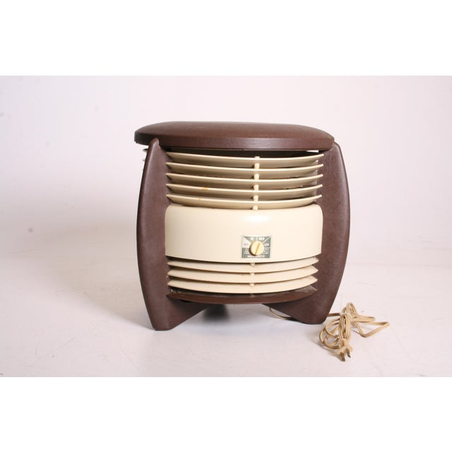 Mid-Century Modern Mid Century Modern Hassock Stool Fan with Original Box For Sale - Image 3 of 11