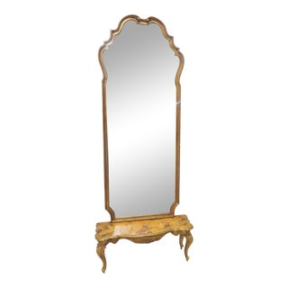 Italian Florentine Gold Gilt Pier Mirror