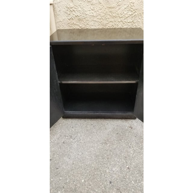 Mid-Century Modern Mid-Century Black Sideboard Cabinets - Pair For Sale - Image 3 of 4