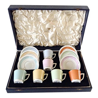 Royal Copenhagen Hjortekaer Coffee Demitasse Coffee Set - Service for 6 For Sale