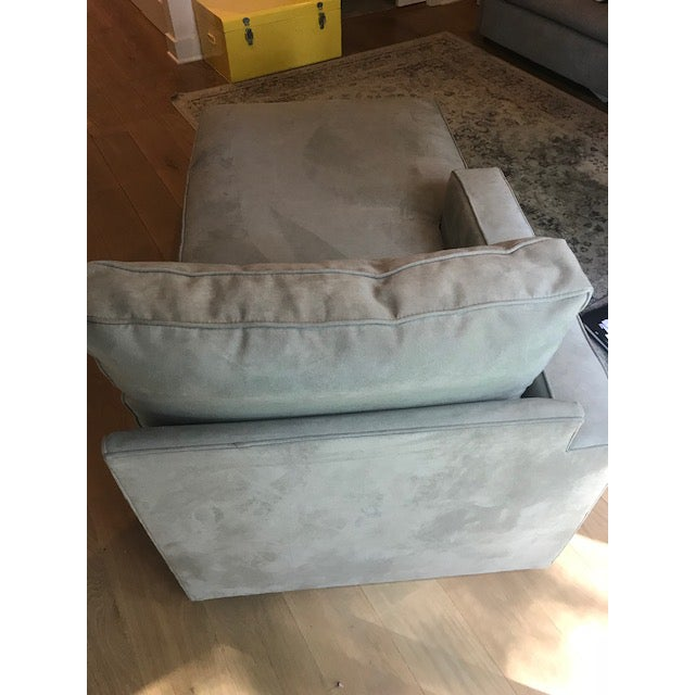 Room & Board Room and Board Suede Chaise Lounge For Sale - Image 4 of 10