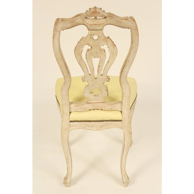 1950s Vintage Continental Louis XV Style Dining Room Chairs- Set of 8 For Sale - Image 4 of 13