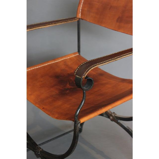 1950s 1950s Vintage Italian Renaissance Savonarola Chair For Sale - Image 5 of 13