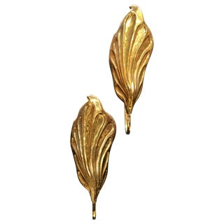 Pair of Italian 20th Century Sconces in Brass by Tommaso Barbi For Sale