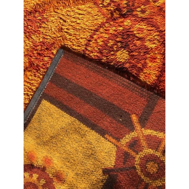 """Vintage Rya Shag Rug - 6'1/2"""" x 10"""" For Sale - Image 4 of 5"""