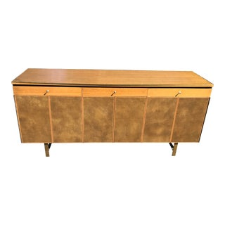 Paul McCobb for Calvin Leather Clad Sideboard Credenza For Sale