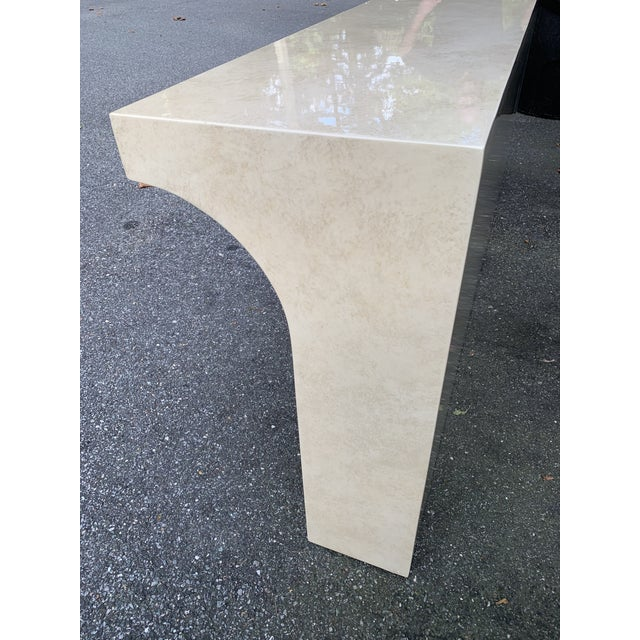 Postmodern Lacquered Stepped Console For Sale - Image 9 of 12