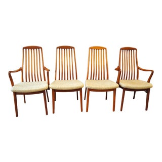 Mid Century Swedish Teak Dining Chairs - Set of 4