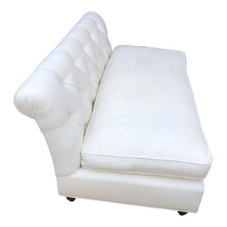 Modern White Tufted Couch For Sale