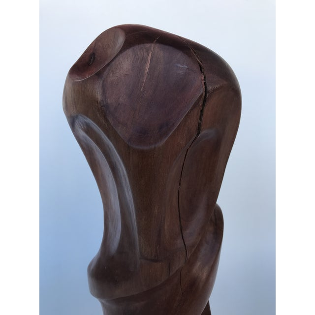 """2000 - 2009 J. Terkiel """"Abstract IV"""" Mid-Century Styled Mahogany Sculpture For Sale - Image 5 of 7"""