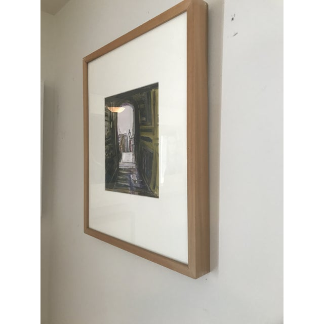 """2000 - 2009 """"Edinburgh"""" Contemporary Architectural Oil Painting, Framed For Sale - Image 5 of 7"""
