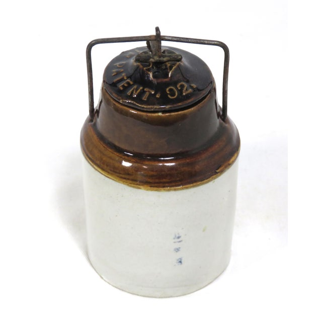 Antique American Stoneware Horsh Radish Jar For Sale - Image 9 of 13