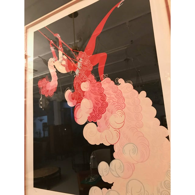 Pencil Erte 'French, 1892-1990' the Trapeze For Sale - Image 7 of 11
