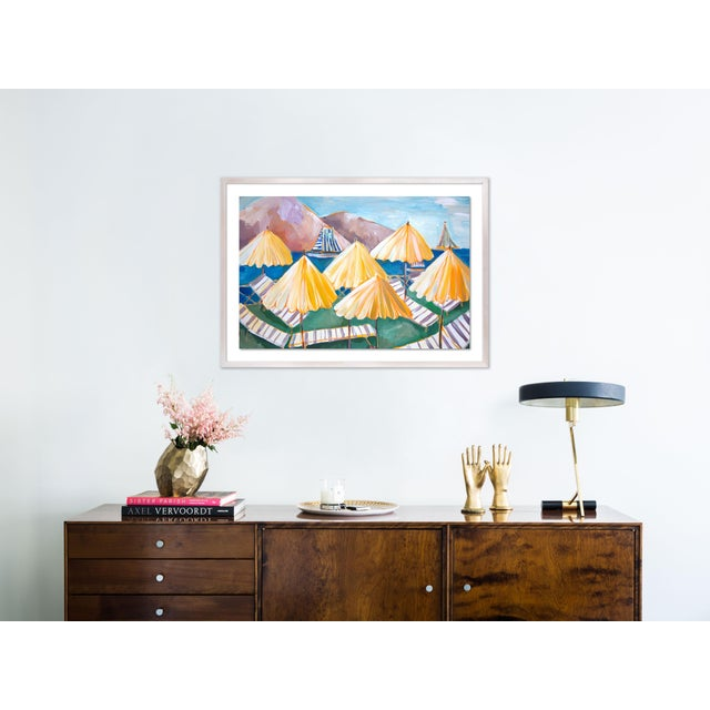 Contemporary Cabana 1 by Lulu DK in White Wash Framed Paper, Medium Art Print For Sale - Image 3 of 4