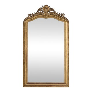 19th Century Antique French Louis Philippe Gold Leaf Régence Mirror For Sale