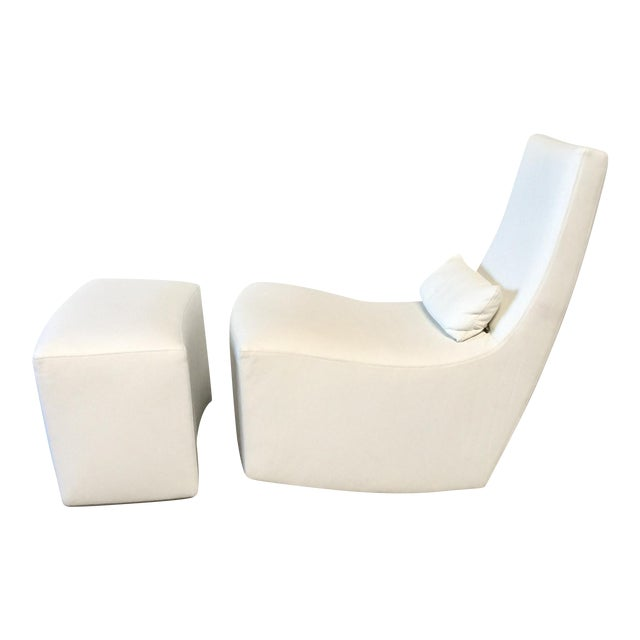 Ligne Roset 'Neo' Rocking Chair & Ottoman by Alban-Sebastien Gilles For Sale
