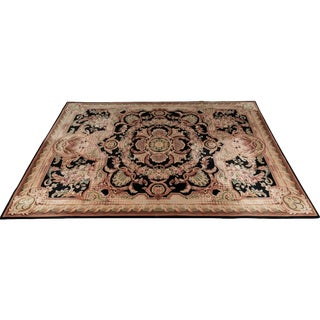 French Style Wool Savonnerie, 10 X 14 Carpet For Sale