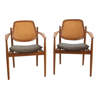 Arne Vodder Dining Armchairs - A Pair For Sale