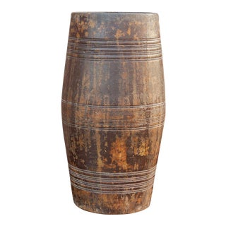 Barr Tribal Dholki Wooden Planter For Sale