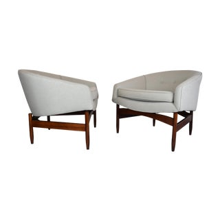 Lawrence Peabody Mid-Century Lounge Chairs - Pair
