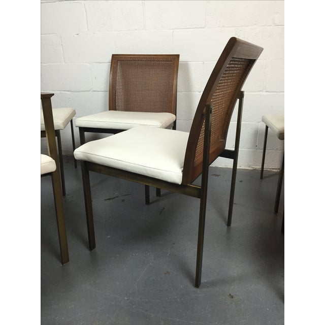 Paul McCobb Cane & Leather Dining Chairs - S/6 - Image 3 of 11