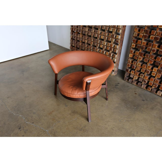 Vintage Mid Century Rare Eugenio Gerli P28 Lounge Chair for Tecno For Sale In Los Angeles - Image 6 of 12