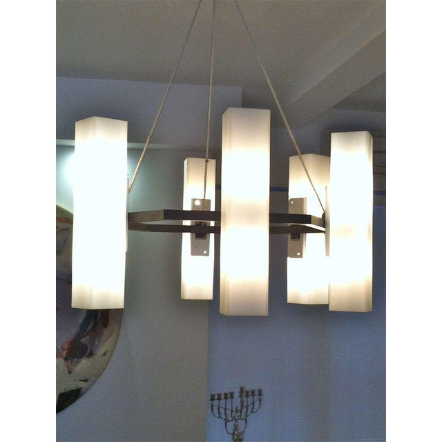 Mid-Century Modern Chandelier by Jan Wahlman, Sweden / 2 Available For Sale - Image 3 of 7