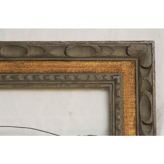 Two Tone Carved Wood Frame Dimensions 28 in. H x 23.75 in. W x 1.25 in. D, inside 21 in. H x 16.875 in. W