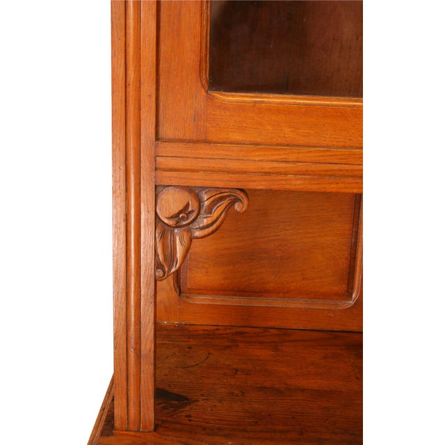 Wood Vintage French Cabinet & Hutch For Sale - Image 7 of 8