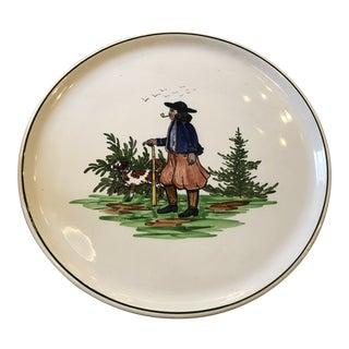 Mid 20th Century Vintage Dresden Platter Handpainted For Sale
