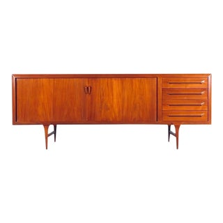 Danish Modern Teak Credenza or Sideboard by Ib Kofod-Larsen for Faarup For Sale