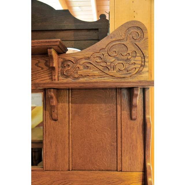 Victorian 1910s Victorian Oak Fireplace Mantel For Sale - Image 3 of 10