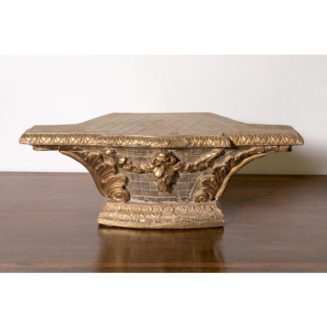 18th Century French Louis XVI Period Carved Giltwood Alter Pedestal For Sale In Birmingham - Image 6 of 10