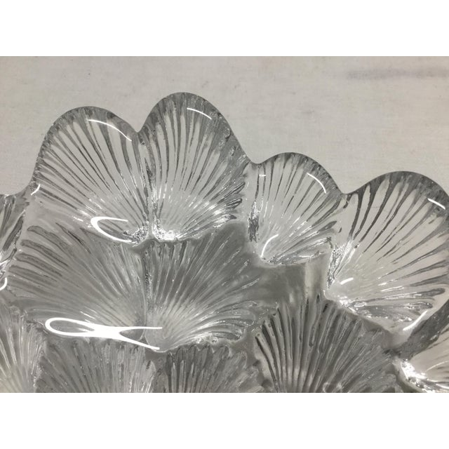 Beautiful, detailed crystal bowl with clam shells design by Royal Copenhagen Crystal. This is a stunning bowl that looks...
