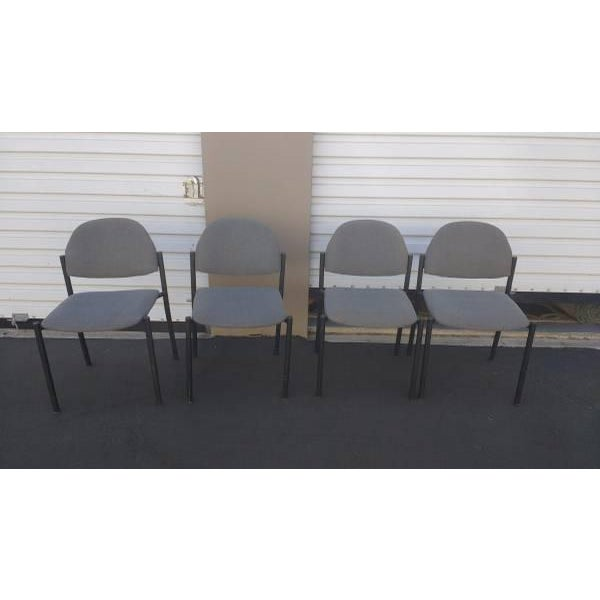 "Comet Armless Stacking Chairs 19"" x 20.5"" x 32.5"" - Polyester & Viscose Blend/ Steel. Recommended Applications Waiting..."