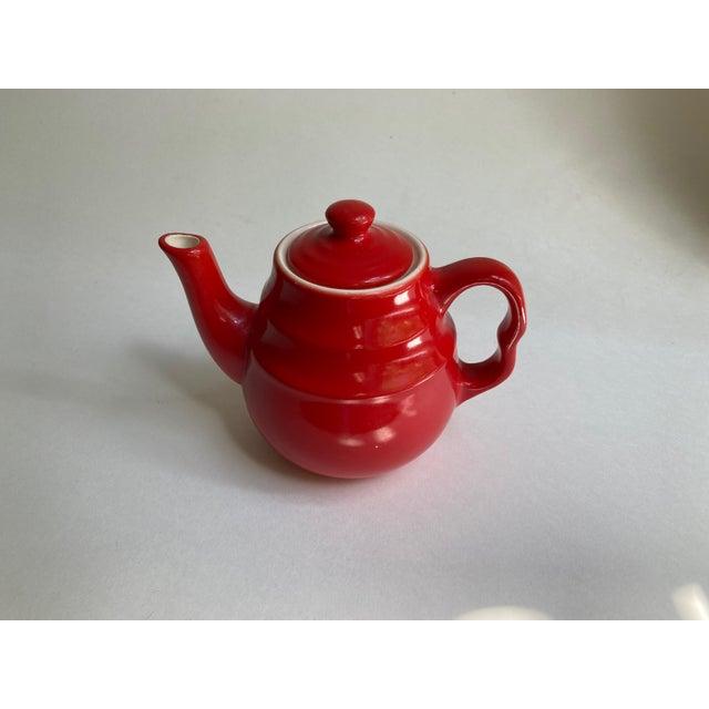 Mid-Century Modern Universal Cambridge Red Ceramic Beehive Tea Pot For Sale - Image 3 of 13