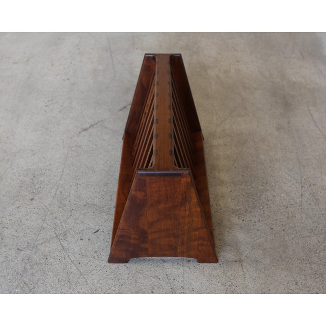 Mid 20th Century John Nyquist Handcrafted Shedua Wood Magazine Rack For Sale In Los Angeles - Image 6 of 10