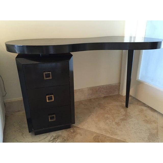 Mid Century Modern Black Desk - Image 5 of 5
