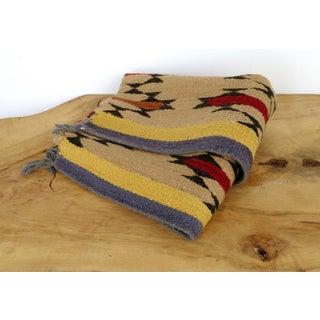 "Lee Smith Handwoven Wool Navajo Saddle Blanket ""Lightening"" Preview"
