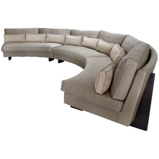Umberto Asnago Mobilidea Semi-circular Sectional Sofa, Italy For Sale