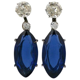 Lovely Marquise Paste Earrings For Sale