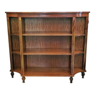 Pair of Sheraton Style Open Bookcases For Sale
