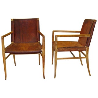 Rare and Important Pair of Robsjohn-Gibbings Armchairs, 1940 For Sale