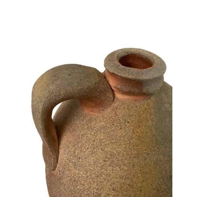 Vintage Kirke Martin Textured Ceramic Jug For Sale - Image 4 of 6